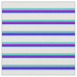 [ Thumbnail: Light Blue, Blue, Violet, Turquoise & Mint Cream Fabric ]