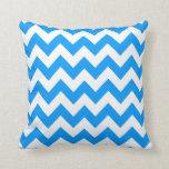 Light Blue Bold Chevron Pillow