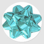 Light Blue Bow Stickers