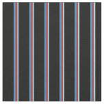[ Thumbnail: Light Blue, Brown, Blue, and Black Colored Lines Fabric ]