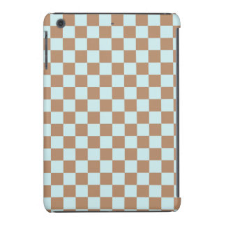 Light Blue Brown Checkered Squares iPad Mini Case