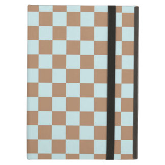 Light Blue Brown Checkered Squares iPad Air Case