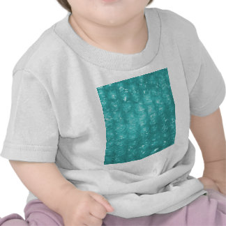 Light Blue Bubble Wrap Effect Tee Shirts