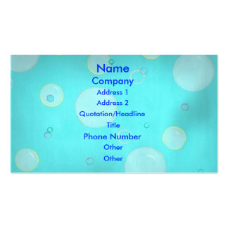 Light blue bubbles and  circles Business Cards