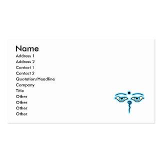 Light Blue Buddha Eyes.png Business Card Template