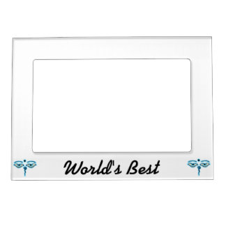 Light Blue Buddha Eyes.png Magnetic Picture Frame