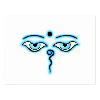 Light Blue Buddha Eyes.png Postcard