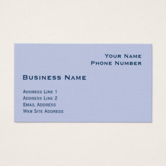 Light Blue Business Card Template