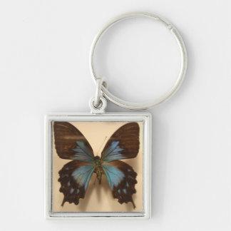 Light Blue Butterfly Keychain