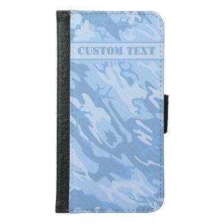 Light Blue Camo Smartphone Wallet w/ Text