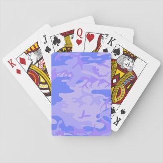 Light Blue Camouflage Classic Playing Cards