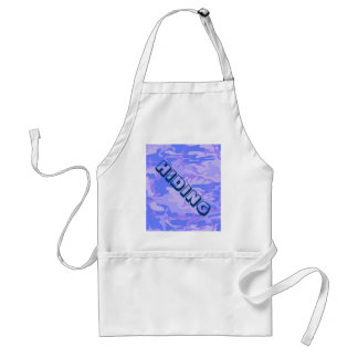 Light Blue Camouflage Pattern Adult Apron