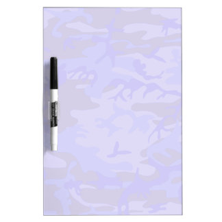 Light Blue Camouflage Pattern Dry-Erase Board
