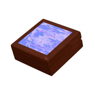 Light Blue Camouflage Pattern Jewelry Box
