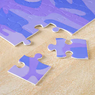 Light Blue Camouflage Pattern Jigsaw Puzzle