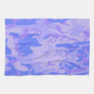 Light Blue Camouflage Pattern Kitchen Towel