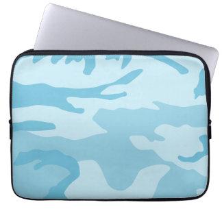 Light Blue Camouflage Pattern Laptop Computer Sleeve