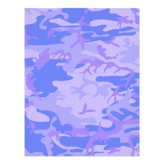 Light Blue Camouflage Pattern Letterhead