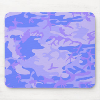 Light Blue Camouflage Pattern Mouse Pad