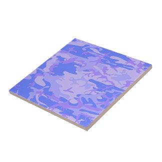 Light Blue Camouflage Pattern Tile