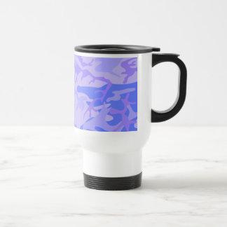 Light Blue Camouflage Pattern Travel Mug
