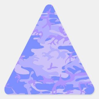 Light Blue Camouflage Pattern Triangle Sticker