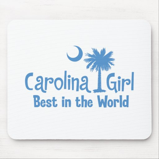 Light Blue Carolina Girl Best in the World Mouse Pad