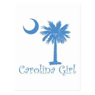 Light Blue Carolina Girl Palmetto Postcard