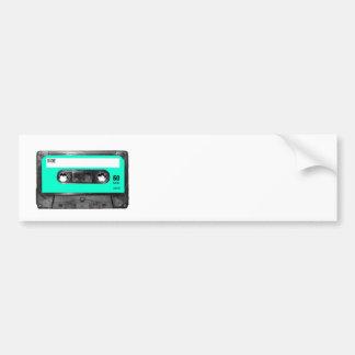 Light Blue Cassette Car Bumper Sticker