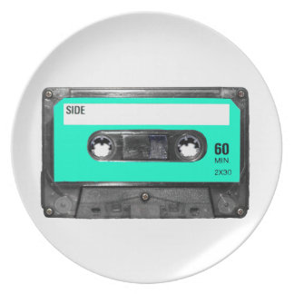 Light Blue Cassette Dinner Plate
