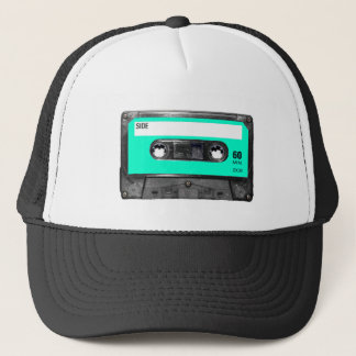 Light Blue Cassette Trucker Hat