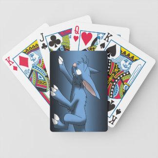Light Blue Cat Dragon Bicycle Card Deck