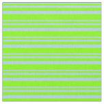 [ Thumbnail: Light Blue & Chartreuse Lines Pattern Fabric ]
