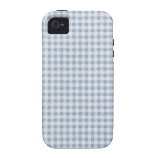Light Blue Checkered Pattern iPhone 4 Case