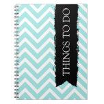 Light Blue Chevron Notebook - Great for Teachers!