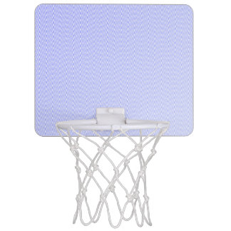 Light blue chevron pattern mini basketball hoop