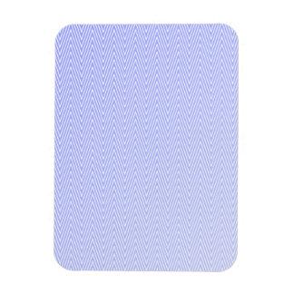 Light blue chevron pattern rectangular photo magnet