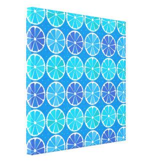 Light blue citrus pattern canvas print