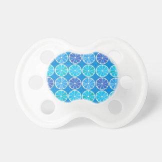 Light blue citrus pattern pacifier