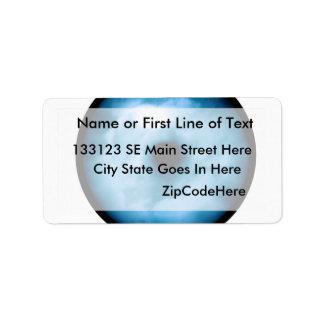 Light Blue cloudy eye graphic Custom Address Label