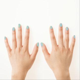 Light Blue Combo Stripes Minx® Nail Wraps