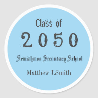 light blue, cool, fun graduate stickers