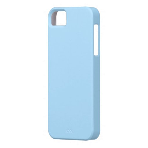 Light Blue Cover iPhone 5 Case