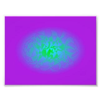 Light Blue Crystal Photo Print