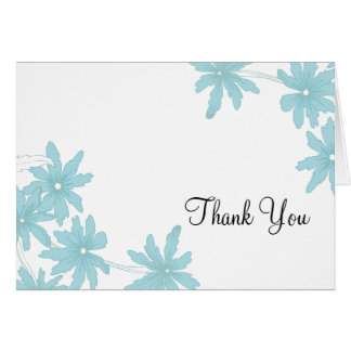 Light Blue Daisies Bridesmaid Thank You Card