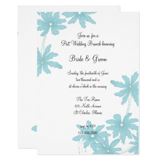 Light Blue Daisies Post Wedding Brunch Invitation