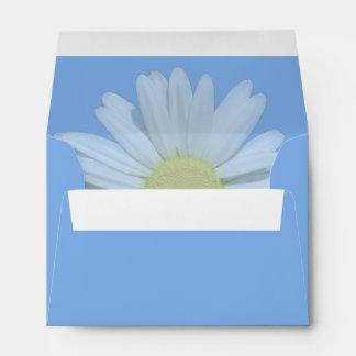 Light Blue Daisy Customizable Wedding Envelopes