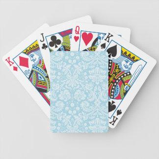 Light Blue Damask Bicycle Playing Cards