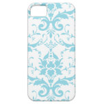 Light Blue Damask iPhone 5 Case Cover
