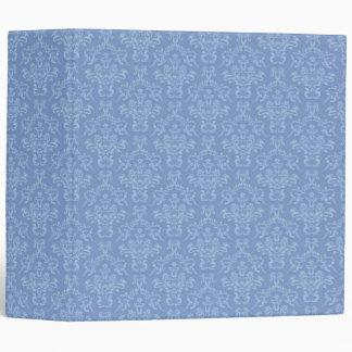 Light blue Damask pattern 3 ring binder